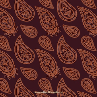 Decorative floral pattern in brown tones