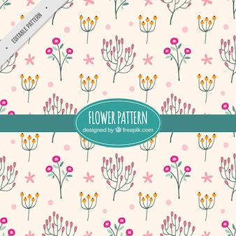 Decorative flower pattern with pink background