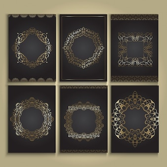 Decorative frames in gold and black