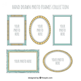 Decorative frames set of hand-drawn pictures
