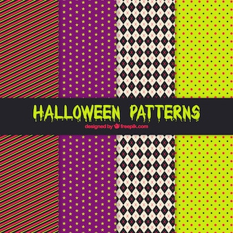 Decorative halloween patterns