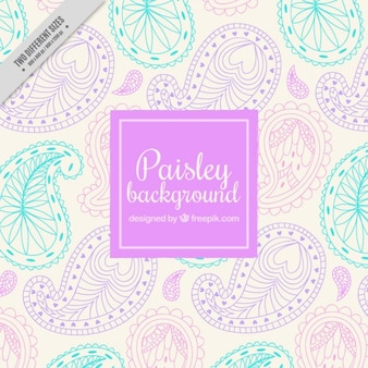 Decorative hand drawn paisley background