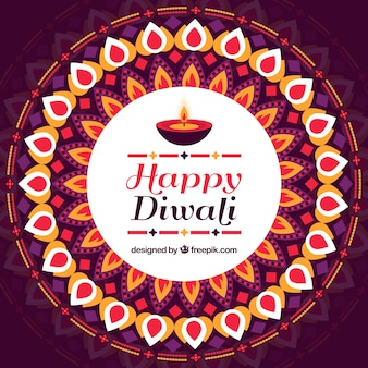 Decorative happy diwali decorative background