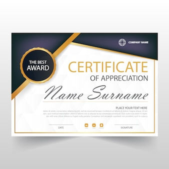 Decorative horizontal certificate template