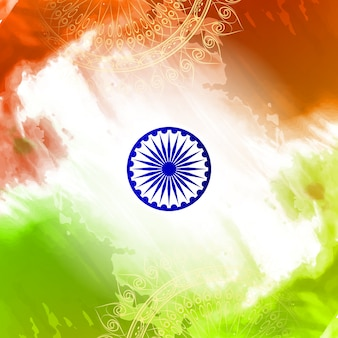 Decorative indian independence day design