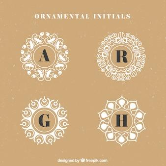 Decorative initials logos