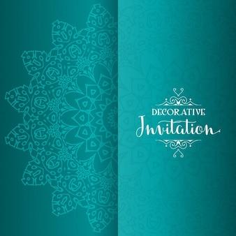 Decorative invitation with mandala