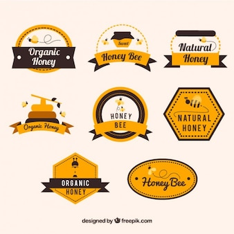 Decorative labels of honey