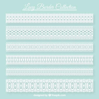 Decorative lace borders set