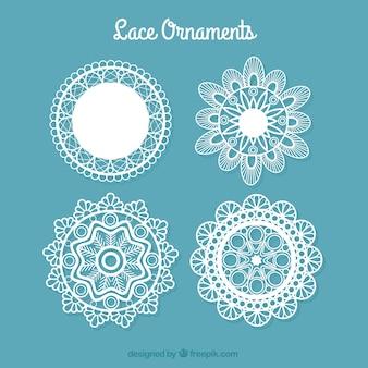 Decorative lace doilies