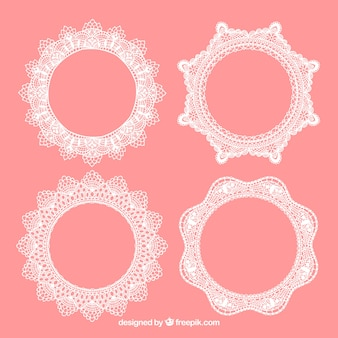 Decorative lace frames pack