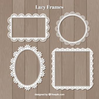 Decorative lace frames set