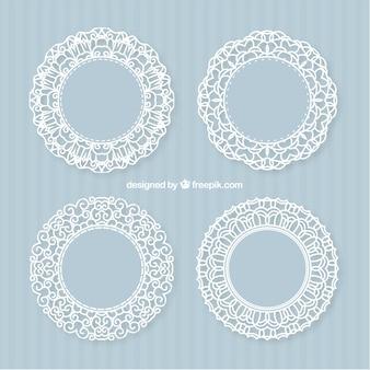 Decorative lacy frames