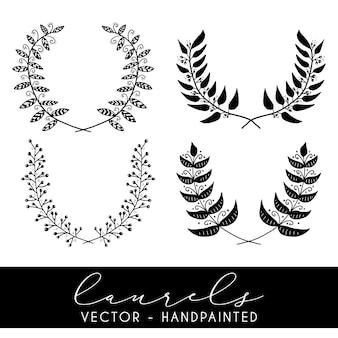 Decorative laurels collection