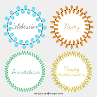 Decorative light wreaths