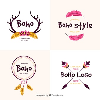 Decorative logos with ethnic elements