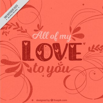 Decorative love background in vintage style