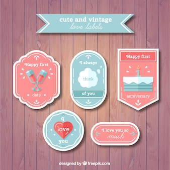 Decorative love labels pack