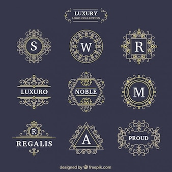 Decorative luxury logotypes set