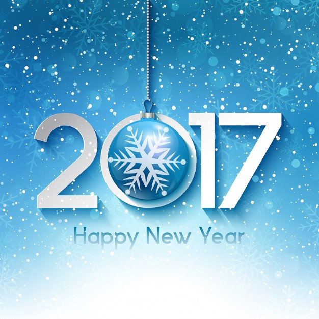 Decorative new year background with snowflakes