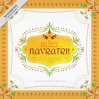 Decorative ornamental watercolor background of navratri