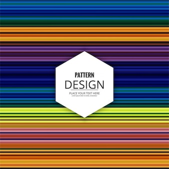 Decorative pattern of colored stripes