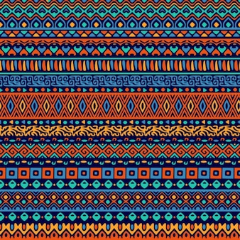 Decorative pattern of ethnic ornamental shapes