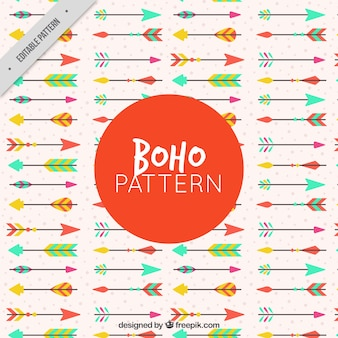 Decorative pattern with colored arrows