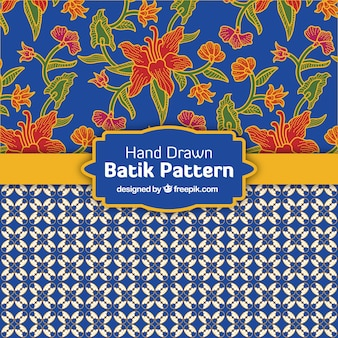 Decorative patterns in batik style