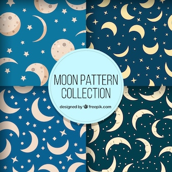 Decorative patterns of different moons