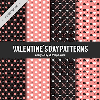 Decorative patterns of hearts