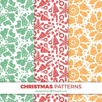 Decorative patterns set of christmas objects