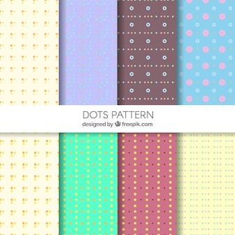 Decorative polka dot patterns