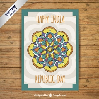 Decorative Republic Day card