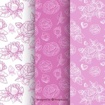 装飾的な紫色のトーンのパターン