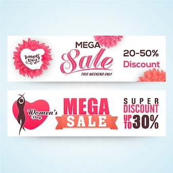 Decorative sale banners for women's day