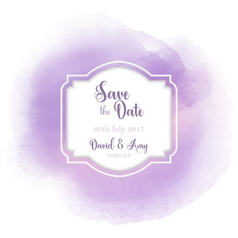 Decorative save the date design with watercolor