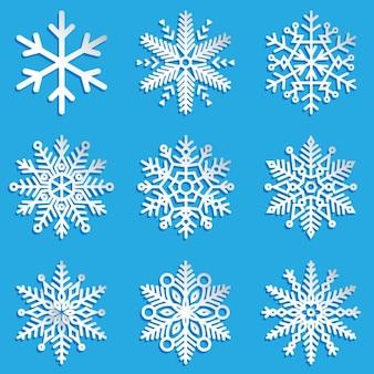 Decorative snowflakes collection