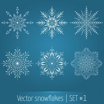 Decorative snowflakes collection