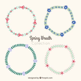 Decorative spring wreath collection