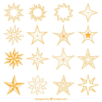 Decorative stars collection