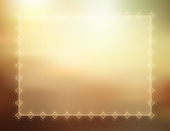 Decorative summer themed background with border