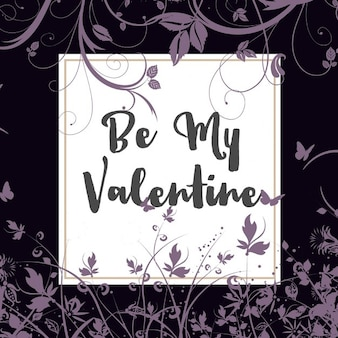 Decorative Valentines Day background with floral design