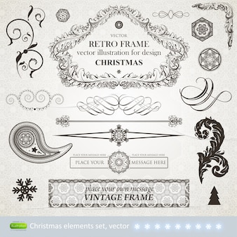 Decorative victorian element invitation typographic