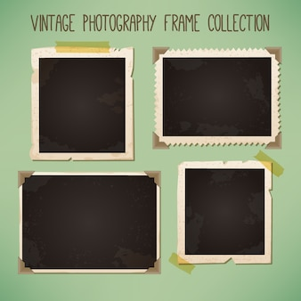 Decorative vintage photo frames