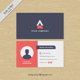Decorative visiting card template