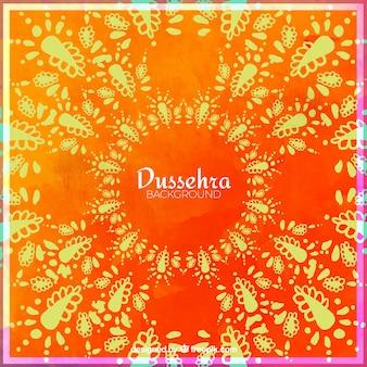 Decorative watercolor dussehra background