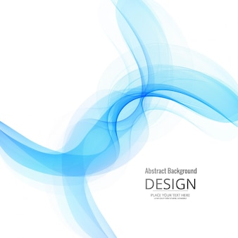 Decorative wavy background design
