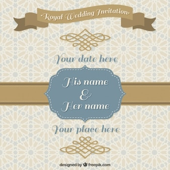 Decorative wedding invitation in vintage design