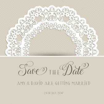 Decorative wedding invitation with ornaments